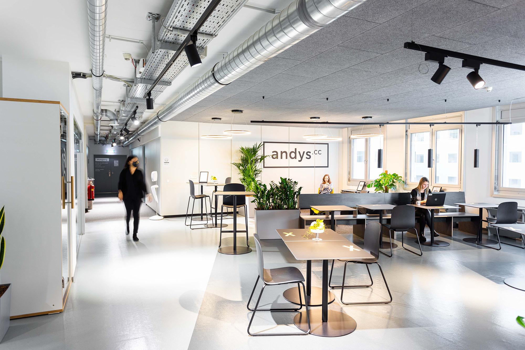 Andys Coworking Center Lassallestraße Flexaccess Abstand