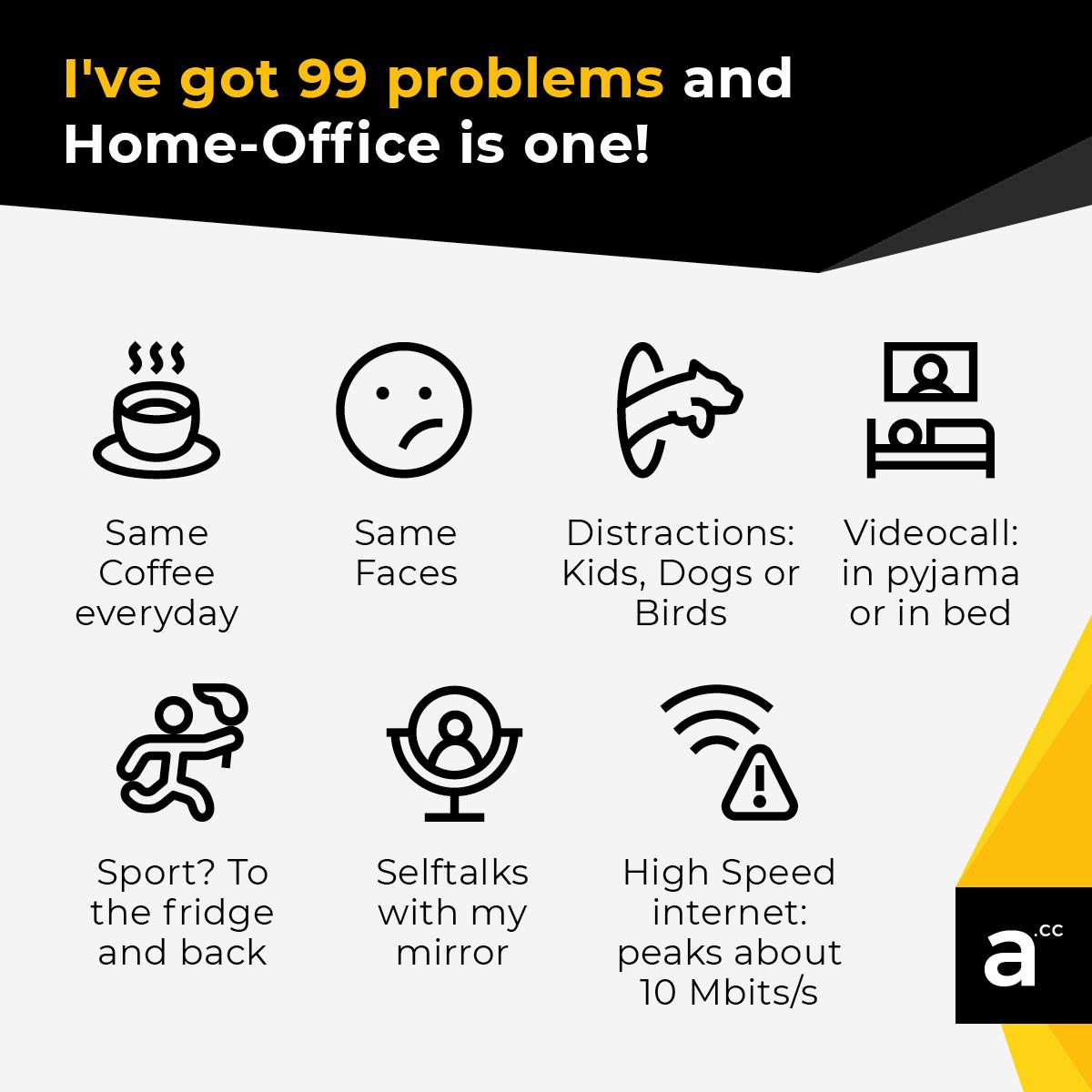 Typische Homeoffice Probleme